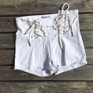 💥5/$25 Fashion Nova Lace-Up Front Tie Shorts